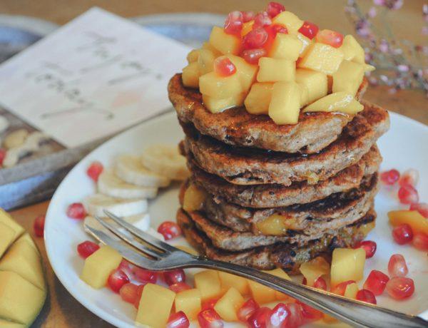 Fluffige, vegane Pancakes ohne Ei