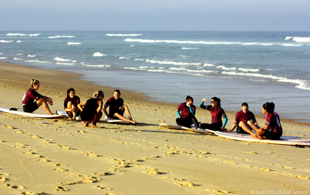 first surf school Surfunterricht