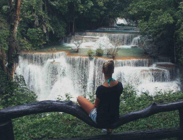 Huay Mae Khamin Wasserfälle in Kanchanaburi