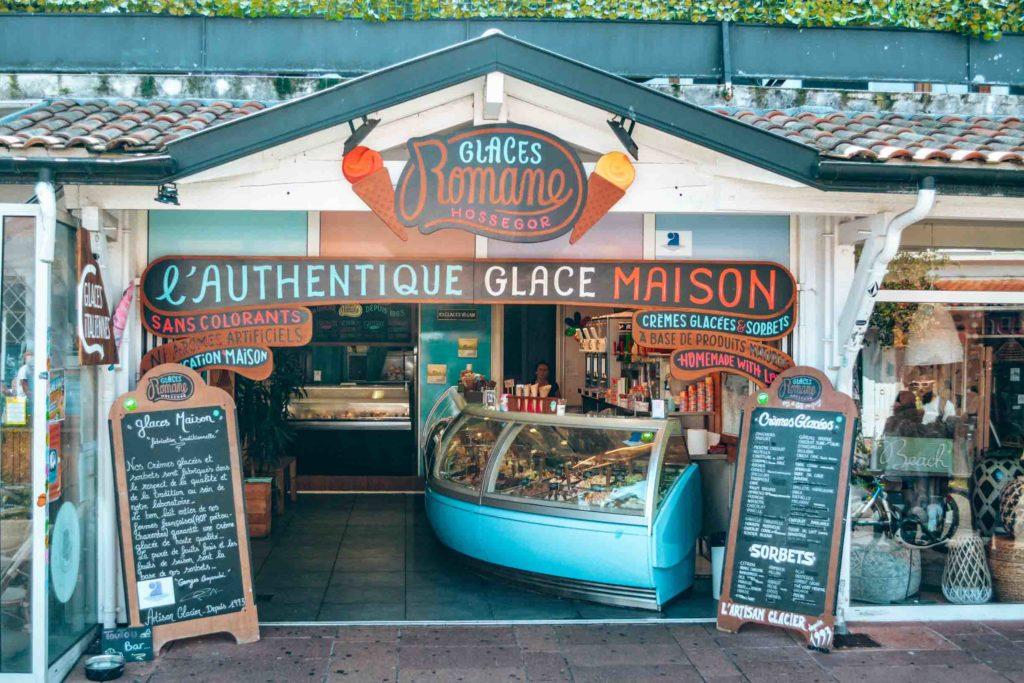 Glaces Romanes, veganes Eis in Hossegor
