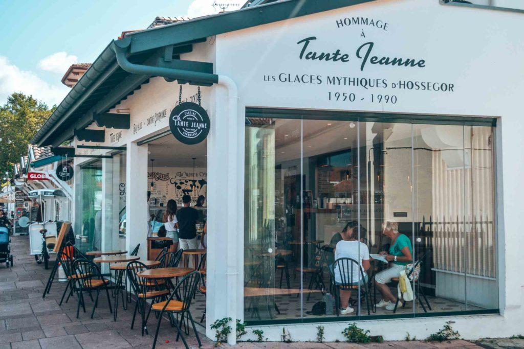Tante Jeanne, getanes Eis und Essen in Hossegor