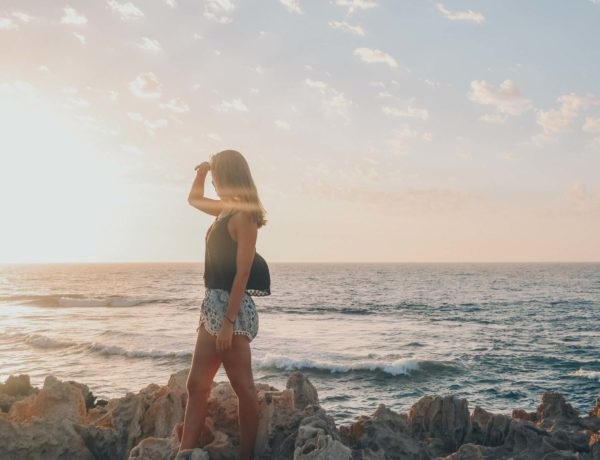 Hannah am Trip Beach in Perth, Western Australia