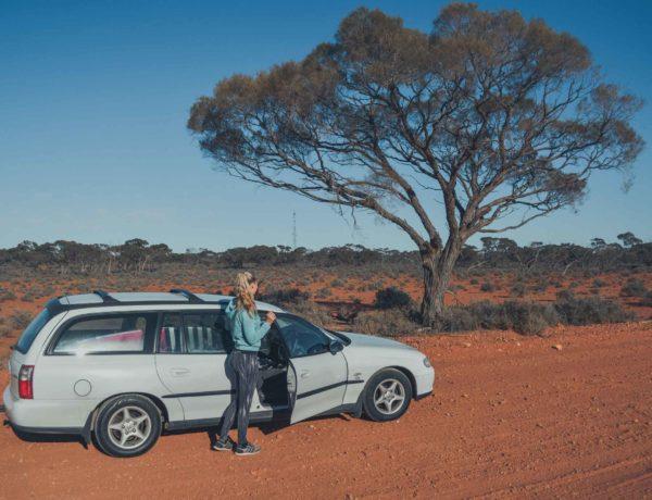 Alleine mit dem Auto durch das Outback in Australien
