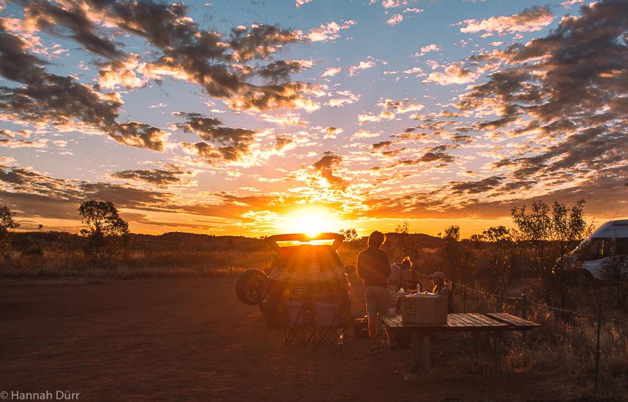 Roadtrip durchs Outback Sonnenuntergang