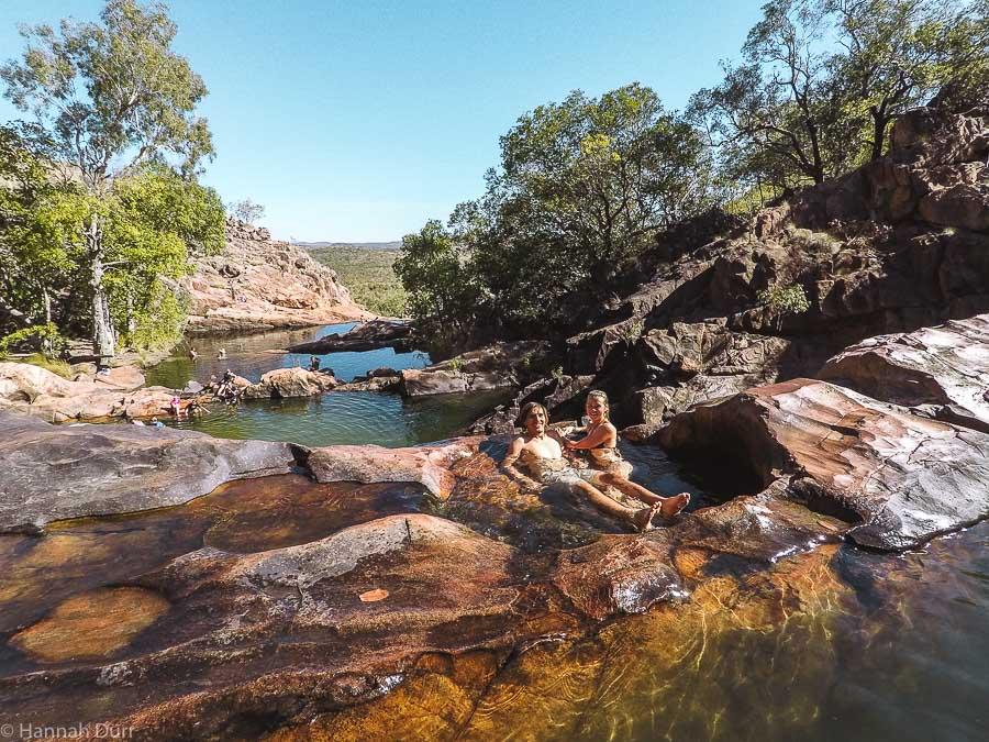 Gunlum Falls im Kakadu Nationalpark - Naturpools mit Aussicht