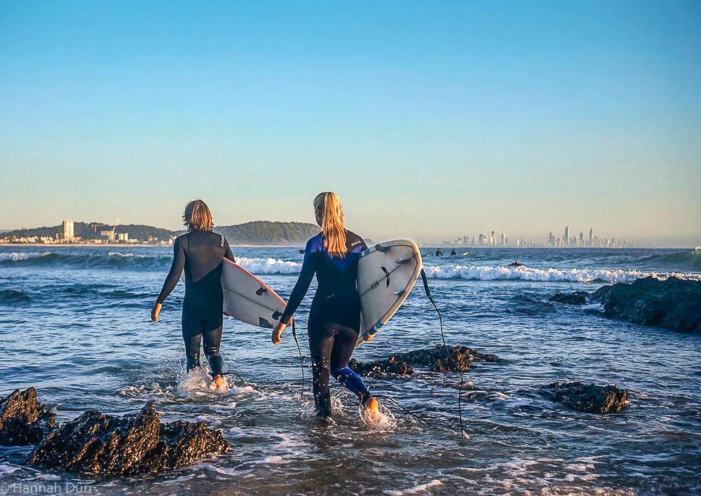 Surfen an der Goldcoast in Australien als Anfänger