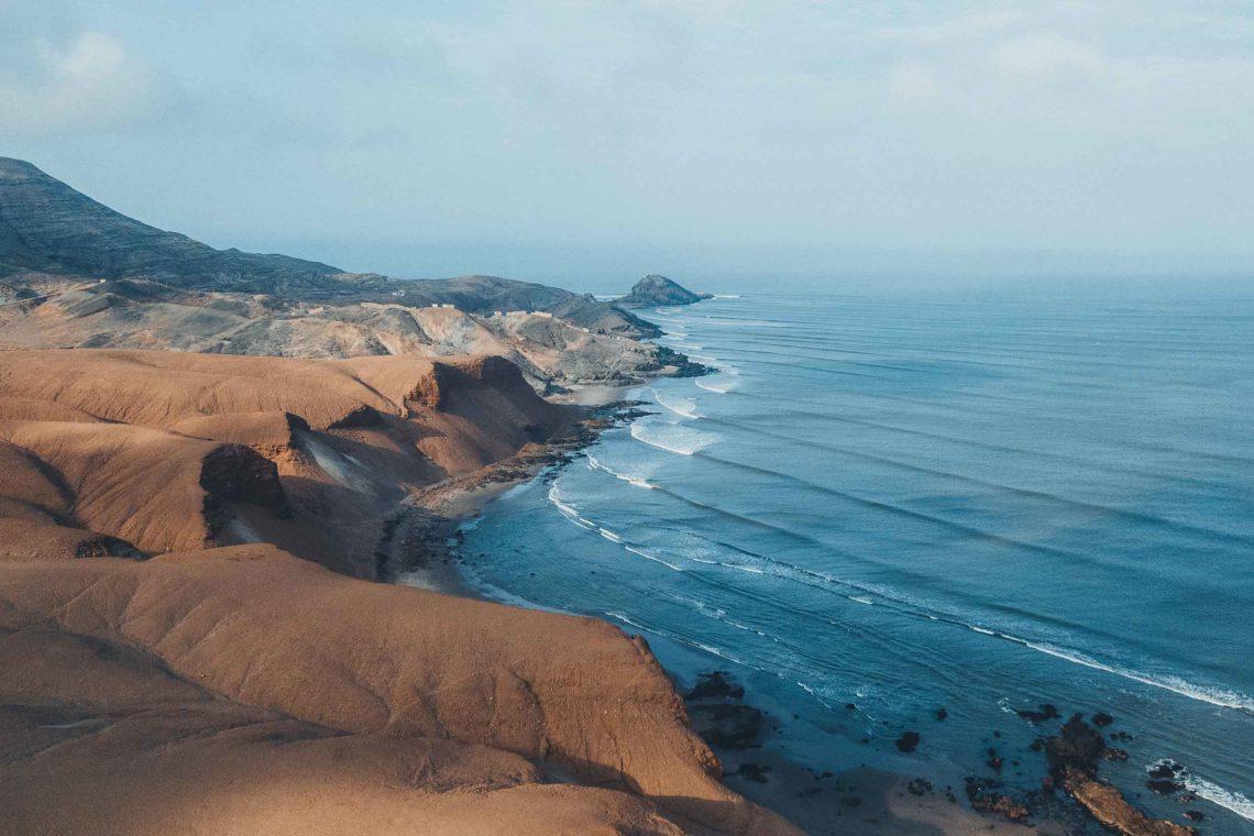 Die Längste Welle der Welt - Drohnenaufnahme von Chicama in Peru