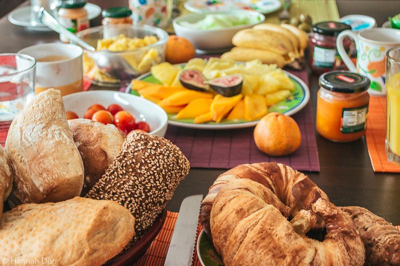 deutsches Frühstück in Peru