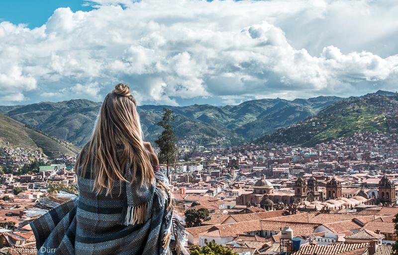 Aussicht auf Altstadt von Cusco, Peru