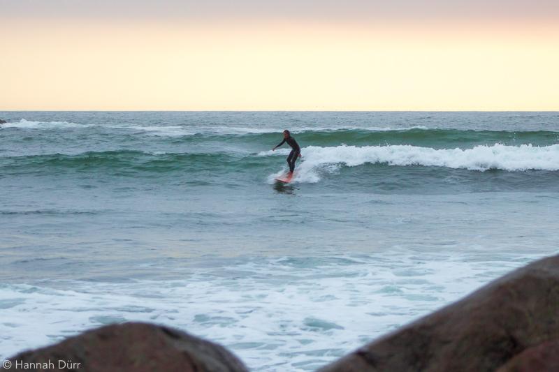 Longboard-Wellen in San Bartolo, Peru