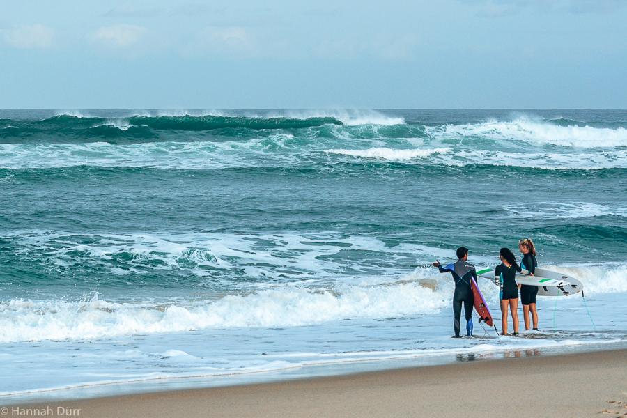 Surfspot-Check vor dem Surfen in Frankreich