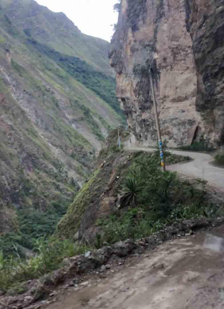 Straße zum Machu Picchu - eine der schlimmsten Situationen auf der Weltreise