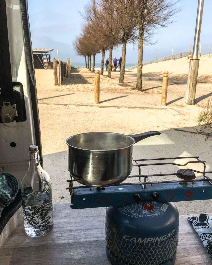 Vanille Hossegor - Kochen mit Blick auf den Strand