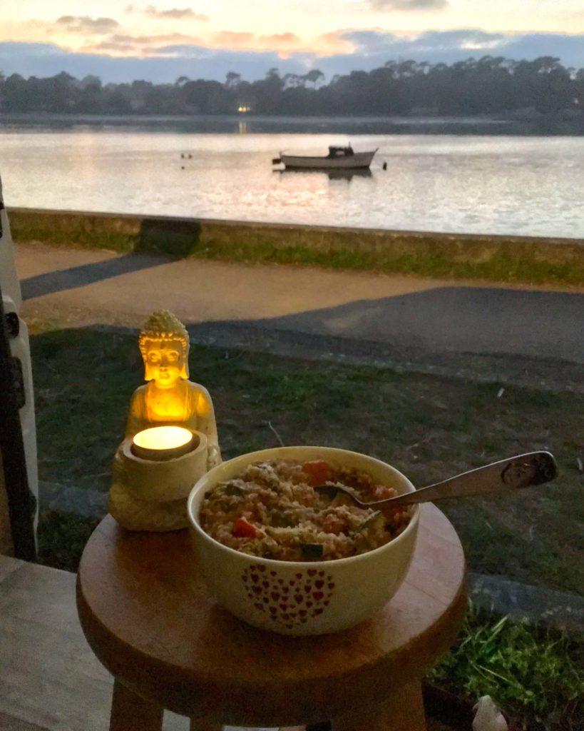 Vanille Hossegor - Abendessen am Lac d'Hossegor