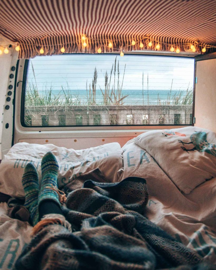 Im Campervan in Biarritz