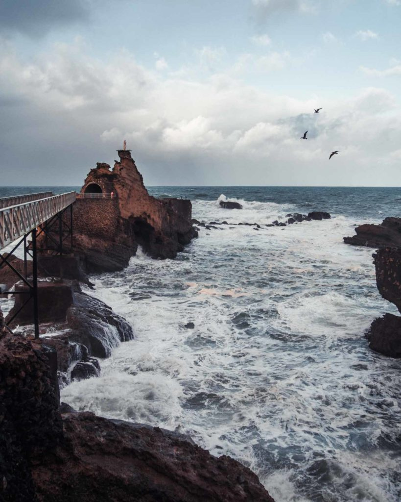Rocher de la vierge, Biarritz
