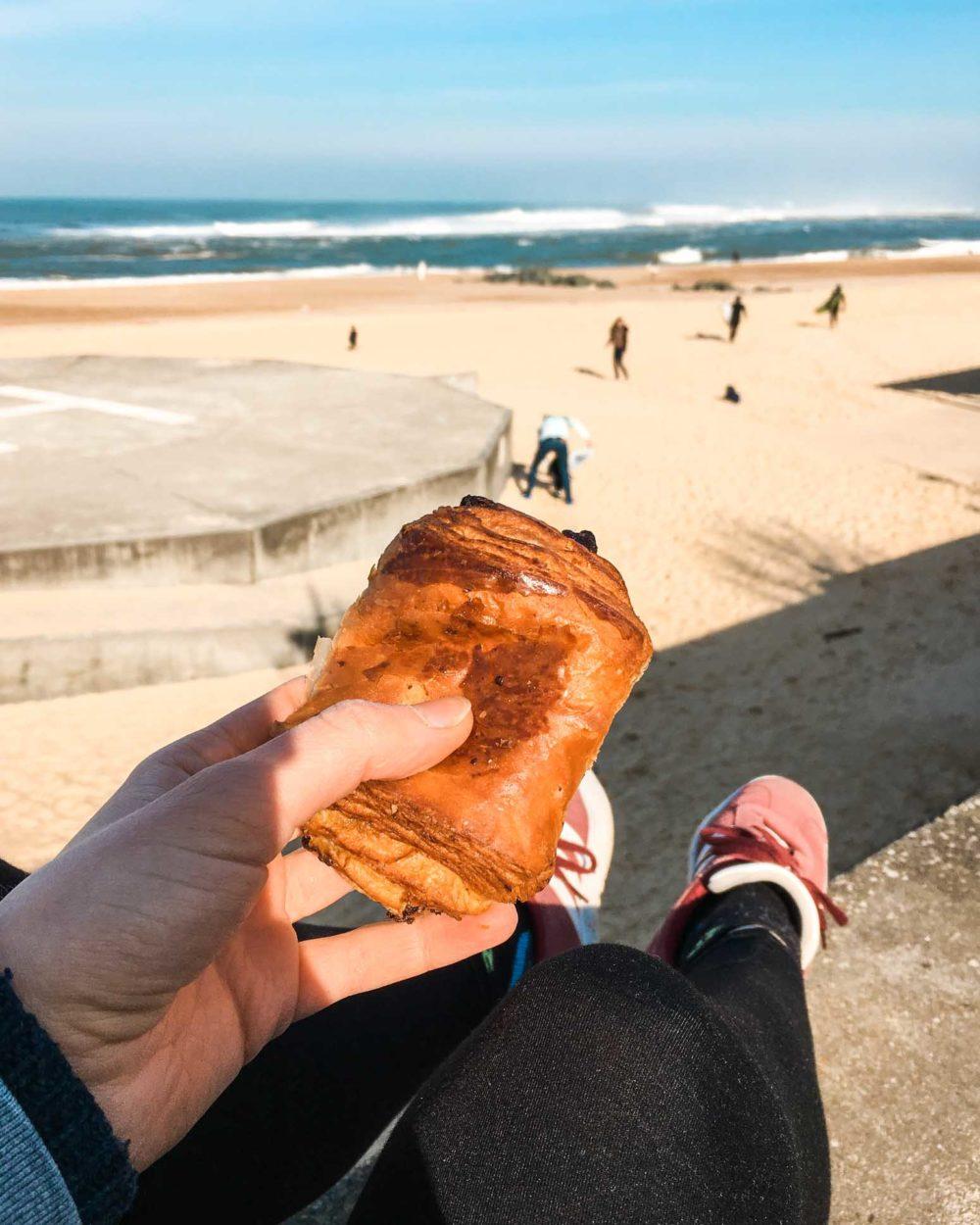 Frühstück am Strand von Hossegor
