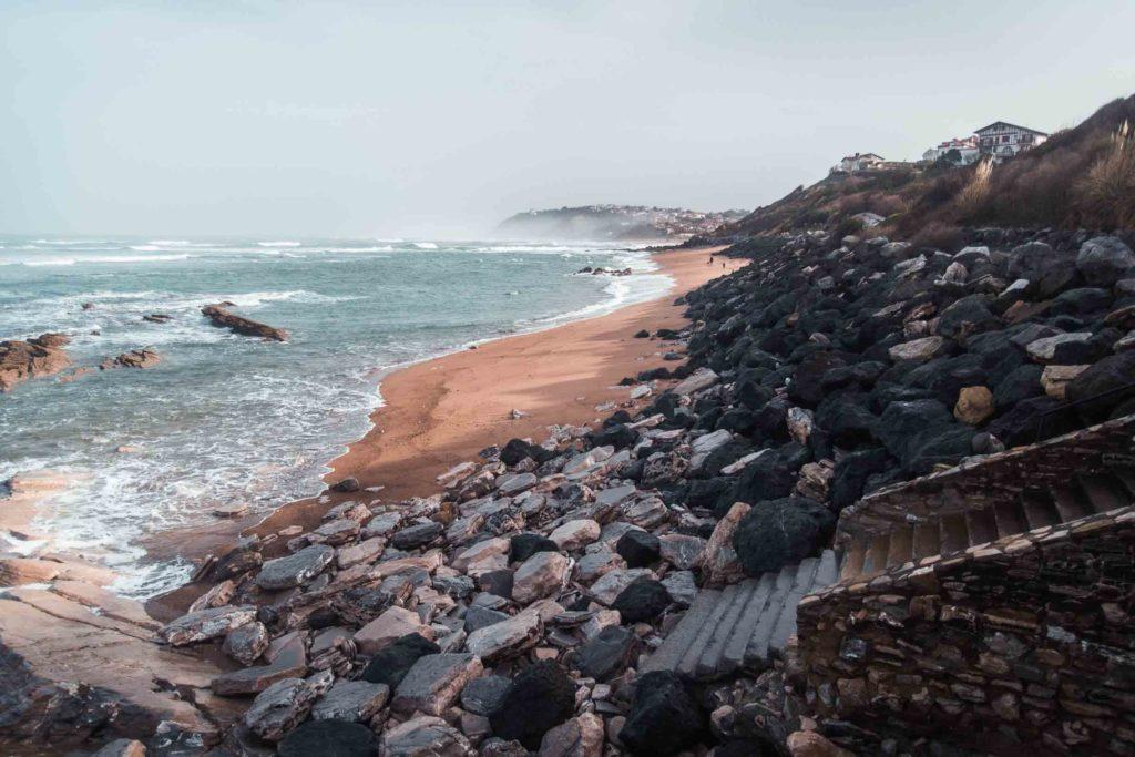 Küstenweg zwischen Guéthary und Biedert Plage