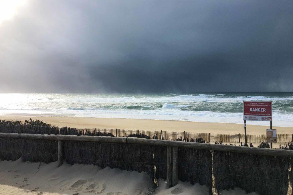 Hossegor Winterwellen und Stürme