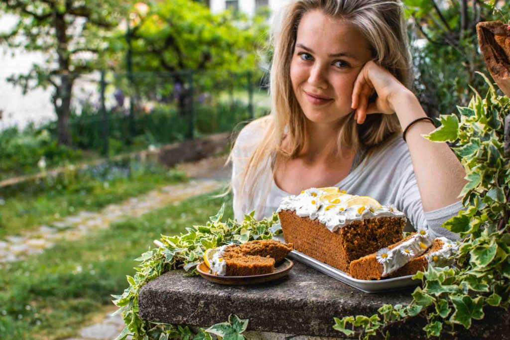 veganer Karottenkuchen gesund Rezept