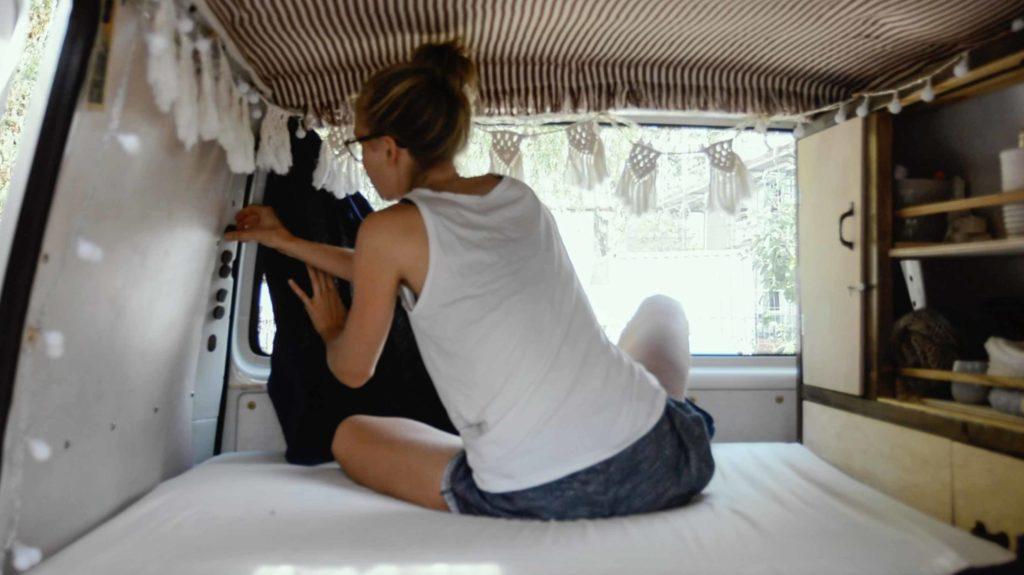 magnetischer vorhang für campervan