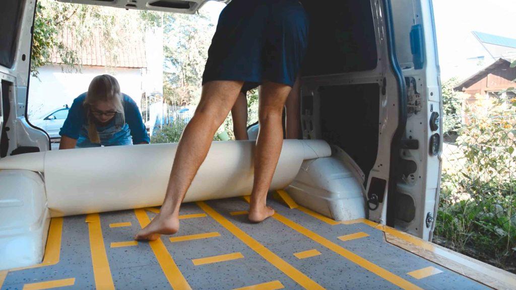 pvc boden verlegen im campervan