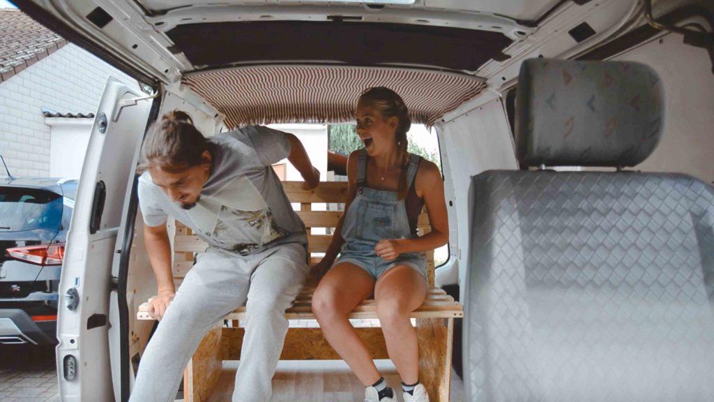 ausziehbett Gestell für campervan selbser bauen