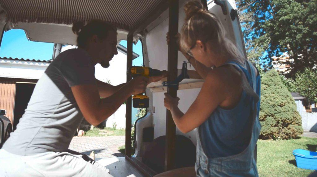 seitenschrank für campervan selber bauen