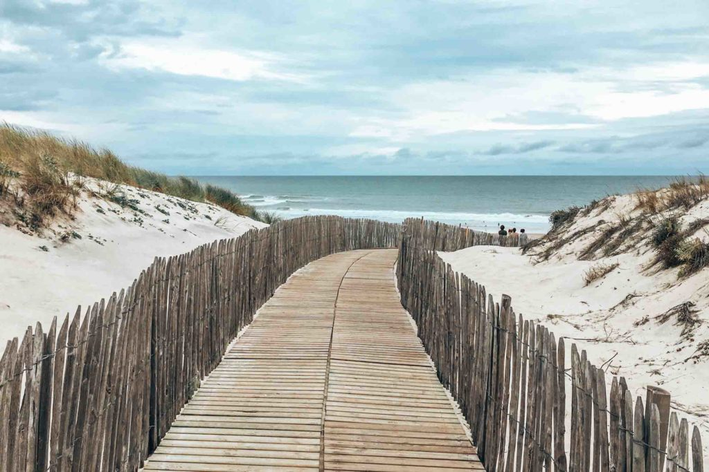 Strand in Carcans Plage - Surfspots an Frankreichs Atlantikküste